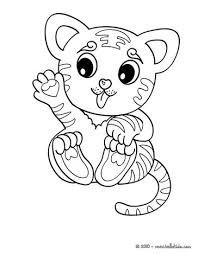 Tiger Fantasy Kawaii Coloring Page