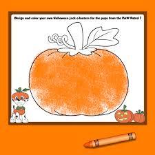 Cat Paw Print Pumpkin Stencil by 5 Paw Patrol Halloween Printables Nickelodeon Parents