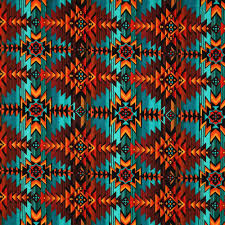 Southwest Decoratives Kokopelli Quilting Co by Timeless Treasures Southwest Indian Blanket Print Multi Fabric