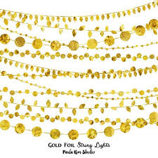 Gold String Lights Clipart