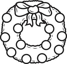 Christmas Wreath Coloring Page For Kids
