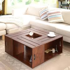 Big Square Coffee Table Wood Nice Tables Furniture Of The Crate With Open Shelf Storage Overstock