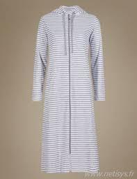 robe de chambre avec fermeture eclair soldes robe de chambre à rayures et fermeture à glissière