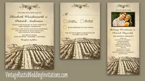 Vintage Rustic Vineyard Wedding Invitations