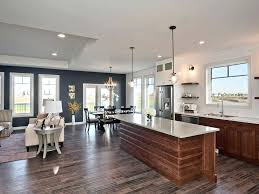 Navy Blue Accent Wall Kitchen Transitional With Living Ceramic Floor Tiles