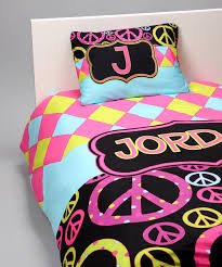 Harlequin & Peace Signs Duvet Cover Set Personalized