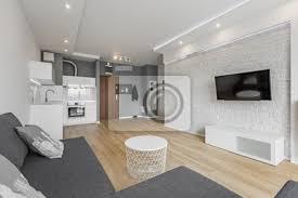 fototapete offenes wohnzimmer mit küche