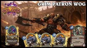 Warrior Hearthstone Deck Grim Patron by Wog Hearthstone Deck Guerrier Grim Patron Standard Legende S29