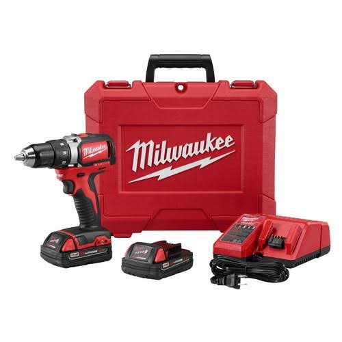 Milwaukee 2701-22CT M18 Compact Brushless Drill/Driver Kit - 1/2""