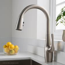 Pull Down Kitchen Faucets Stainless Steel by Kraus Kpf1670sfs Single Handle Pull Down Kitchen Faucet With All