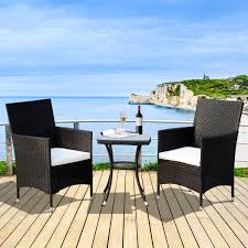 Aosom: Outsunny 3 Piece 3 Piece Rattan Outdoor Cushioned Bistro ... European Style Cast Alinum Outdoor 3 Pieces Table And Chairs Piece Tasha Accent Side Set The Brick Zachary 3piece Occasional By Crown Mark Fniture Amazoncom Winsome Wood 94386 Halo Back Stool Kitchen Ding Sets Piece Table Sets Coaster Sam Levitz Obsidian Pub Chair Gardeon Wooden Beach Ffbeach Winners Only Broadway With Slat Tms Bistro Walmartcom 3piece Drop Leaf Beige Natural Bernards Ridgewood Dropleaf Counter Wayside