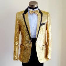 Custom Made Slim Fit Sequins Groom Tuxedos White Black Gold Red Groomsmen 2015 Men Wedding Suits Dress Jacket Pants Bow Tie In From Weddings