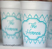Personalized Styrofoam Cups Monogrammed Styrofoam Cups Two Funny