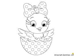 Color This Baby Chick On Easter