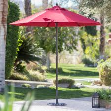 9 Ft Patio Umbrella Frame by Coral Coast Key Largo 9 Ft Spun Poly Wood Market Umbrella Hayneedle