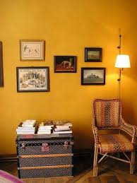 Awesome Gallery Framed Rectangular Wooden Materials Light Yellow Wall Paint Colorful Rattan