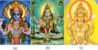 104 Lord B The Three Most Well Known Gods A Vishnu Shiva And Download Scientific Diagram