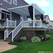 Metal Deck Skirting Ideas by Raised Deck Designed With Lattice Skirting Mosquito Curtains And