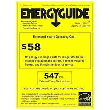 Energy Guide Refrigerator Benchmark