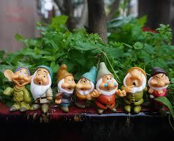Disney Fairy Garden Decor by Seven Dwarfs Snow White Fairies Miniature Disney Studio Fairy
