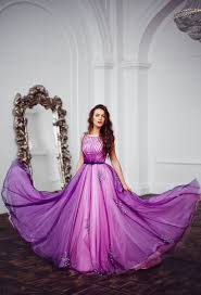 high quality light long evening purple dress buy cheap light long