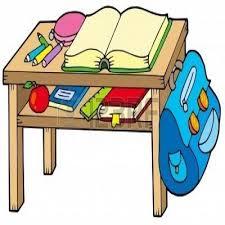 Organized Student Desk Clipart ClipartXtras