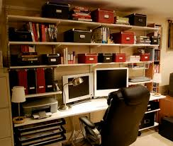 Home Office Designs: Contemporary Office With Storage Shelving ... Modern Home Office Design Inspiration Decor Cuantarzoncom Rustic Fniture Amusing 30 Pine The Most Inspiring Decoration Designs Decorations Ideas Brucallcom Gray White Workspace Desk For Small Gooosencom Download Offices Disslandinfo Remodel