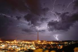 Lightning Storm Over City Lights Wallpaper 23628