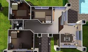 Simple Layout Of A Villa Placement by Simple Sims 3 Mansion Plans Placement Architecture Plans 56788