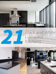 21 White Kitchen Cabinets Ideas 21 Neat Black And White L Shaped Kitchens Home Design Lover