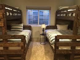 Queen Size Loft Bed Plans by Bunk Beds Diy Twin Over Queen Bunk Bed Bunk Beds With Queen On