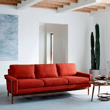 West Elm Crosby Sofa Sectional by Leon Wood Frame Sofa 82