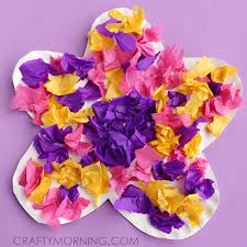 Flower Art Ideas For Preschool Luxury Paper Plate Craft Using Tissue Crafty Morning Of