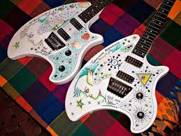 Bill Nelsons Custom Painted Eastwood Breadwinner Guitars