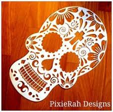 Sugar Skull Paper Cutting Template PERSONAL USE By PixieRahDesigns