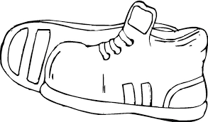 Nike Shoes Coloring Pages Shoe Page Ace Images Art