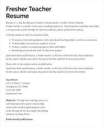 Teaching Resume Samples Entry Level