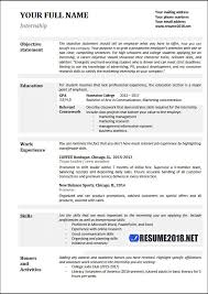 Great Cv Examples 2018