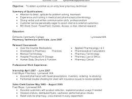Pharmacy Sample Resume Hospital