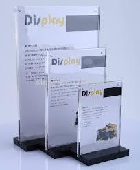 A5 Acrylic Magnetic Table Display Stand Holder Desktop Label Sign AL8102 For Supermarket Restaurants Hotels In Frame From Home Garden On