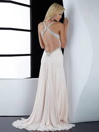 halter top beaded white satin wedding party gown of long skirt and