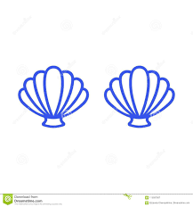 100 Sea Shell Design Blue Mermaid Bra Outline Mermaid Top Tshirt Scallop