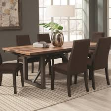 coaster spring creek dining table with 18 extension leaf value