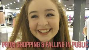 prom shopping u0026 falling in public youtube