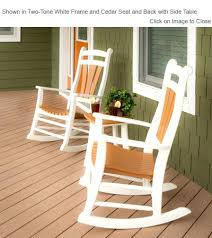 Polywood Seashell Adirondack Rocking Chair by Poly Rocking Chair Finch Poly Furniture High Tide Porch Rocking