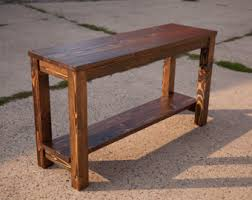 Rustic Sofa Table With Drawers