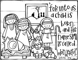 Nativity Coloring Page Isaiah 96