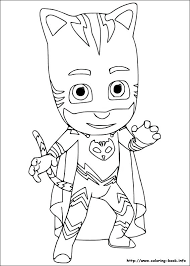 Pj Masks For Coloring Picture 2 Color Cute Mask Pages Romeo