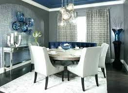 Grey Dining Room Curtain Ideas Modern Curtains Contemporary With Walls And Blue Accents