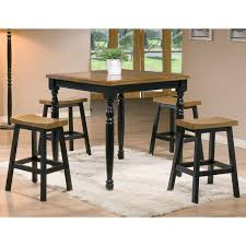 Crate And Barrel Basque Dining Room Set by Acme Furniture Mira 3 Piece Counter Height Dining Table Set